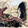 Cveto Marsic. La tranquilidad inquieta (boceto). 1988. Acrílico/papel. 55x75 cm
