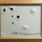Jordi Alcaraz. Dibujo de zahori.  2008. Dibujo sobre cartón, espejo y agujeros. 83,5 x 69,5 cm
