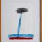 Miguel Galano. Nube color. 1987. Mixta/papel. 47 x 33 cm