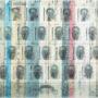 Lluís Barba. Encarcelamiento del conocimiento (Serie Identidades). Infotransfer y resinas/tela. 88x96 cm