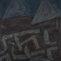 Rafael Talavera. Pirámides. 1987. Mixta/tela. 167x133 cm