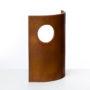 Ricardo Ugarte-Popa con ojo de buey-2004-Acero-30x24,5x8,5cm