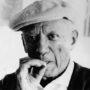 Antonio Cores-Picasso con gorra y fumando-Colección Picasso visto por Antonio Cores