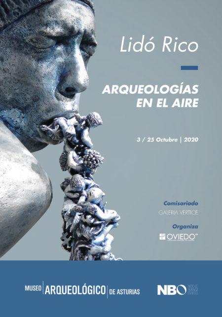Cartel Arqueologías en el aire - Lidó Rico